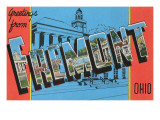 Greetings from Fremont, Ohio Poster