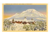 Winter, Timberline Lodge, Oregon Poster
