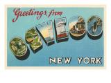 Greetings from Oswego, New York Prints