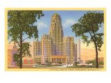 City Hall, McKinley Monument, Buffalo, New York Posters
