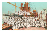 Navy Crew on Board US Warship Prints