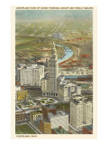 View over Terminal Group, Cleveland, Ohio Prints