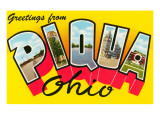 Greetings from Piqua, Ohio Prints