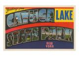 Greetings from Cayuga Lake State Park, New York Print