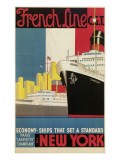 Oceanliner, French Line Prints