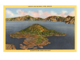 Crater Lake, Wizard Island, Oregon Prints