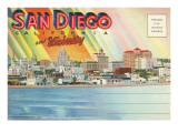 Postcard Folders, San Diego and Vicinity Posters