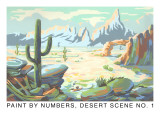 Paint by Numbers, Desert Scene Prints