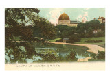 Central Park with Temple Beth-El, New York City Posters