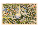 Overview of Theme Center, New York World's Fair, 1939 Prints