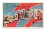 Greetings from Monticello, New York Print