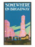 Somewhere on Broadway, Sheet Music, New York - Reprodüksiyon