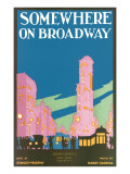Somewhere on Broadway, Sheet Music, New York Poster
