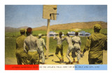 Basketball on Army Base, Salt Lake City, Utah Posters