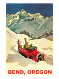 Alpine Skiing Expedition in Bend, Oregon Prints