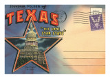 Postcard Folder, Souvenir of Texas Posters