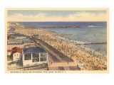 Beach and Boardwalk, Coney Island, New York City Kunstdrucke