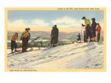Skiers, Lake Placid, New York Prints