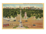 Columbus Circle, Central Park, New York City Print