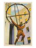 Statue of Atlas, New York City Posters