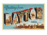 Greetings from Dayton, Ohio Prints
