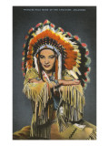 Princess Pale Moon, Choctaw Indian Premium Giclee Print