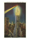 Beacon on Chrysler Building, New York City Poster