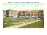 Campus Buildings, Columbia University, New York City Posters