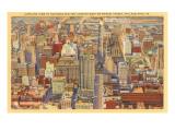 Aerial View, Philadelphia, Pennsylvania Posters