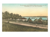 Tennis Court at Athletic Club on Lake Chautauqua, New York Posters