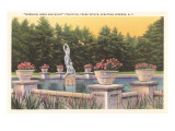 Fountain, Trask Estate, Saratoga Springs, New York Poster