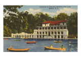 Canoing, Delaware Park Lake, Buffalo, New York Prints