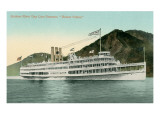 Robert Fulton Steamer on the Hudson River Art