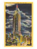 Night, Empire State Building, New York City Art