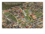 Aerial View of University of Cincinnati, Ohio Prints