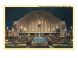 Cincinnati Union Terminal at Night, Cincinnati, Ohio Affiches