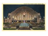 Cincinnati Union Terminal at Night, Cincinnati, Ohio Posters