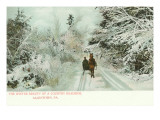 Winter, Horse and Sleigh, Allentown, Pennsylvania Prints