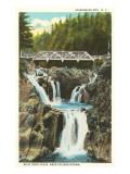 Split Rock Falls Elizabethtown, New York Prints