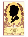 Silhouette of Abraham Lincoln Poster