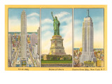 Famous Sights of New York City Art