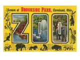 Scenes at Brookside Park Zoo, Cleveland, Ohio Prints