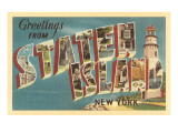 Greetings from Staten Island, New York Posters