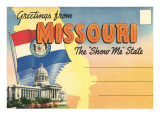 Postcard Folder, Greetings from Missouri Photo