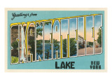 Greetings from Skaneateles Lake, New York Prints