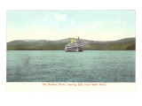 Ship on Hudson River, New York Print