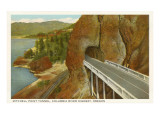 Mitchell Point Tunnel, Columbia River Highway, Oregon Prints