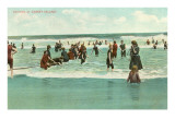 Bathing at Coney Island, New York City Photo