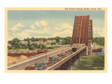Erie Avenue Bascule Bridge, Lorain, Ohio Posters