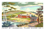 Paint by Numbers, Farm Scene Number One Kunst